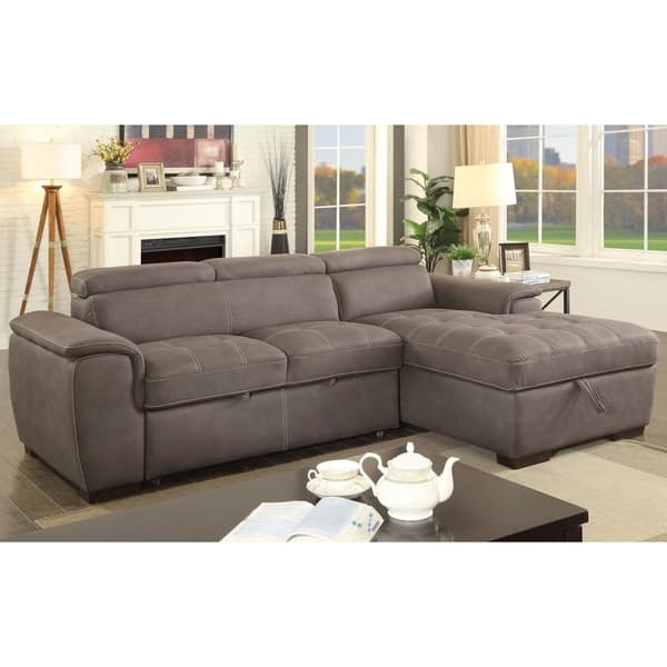 Cool Shop Fergus Contemporary Nubuck Leather Sleeper Sectional By Caraccident5 Cool Chair Designs And Ideas Caraccident5Info