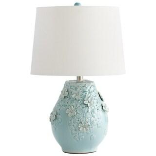 Cyan Design Eire Sky Blue/White Ceramic/Linen Table Lamp