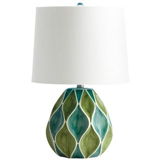Cyan Design Glenwick Green and Blue Ceramic Table Lamp