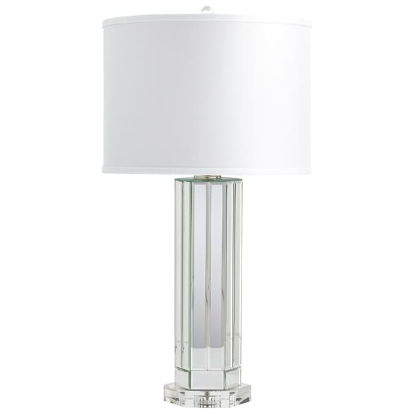 Cyan Design Lucida Glass and Cotton Clear and White Table Lamp