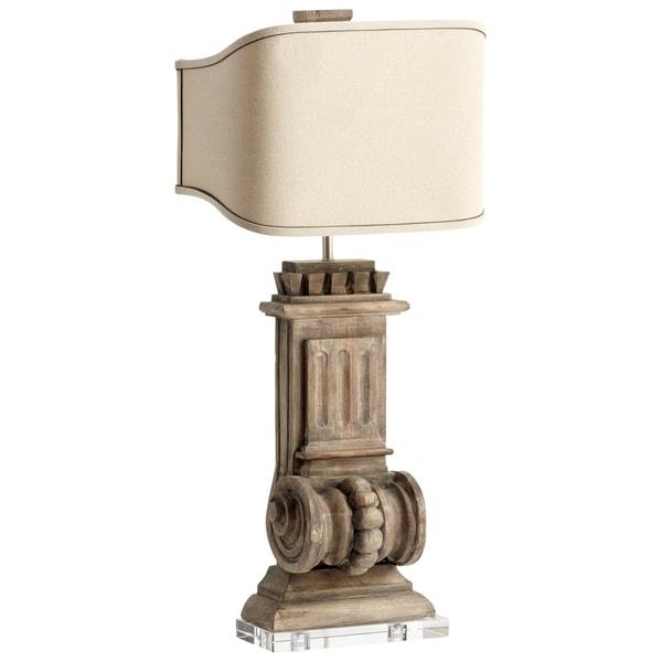 Cyan Design Loft Limed Gracewood-finish Wood/Raw Cotton Shade Table Lamp