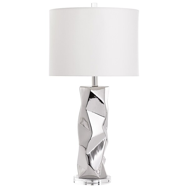 Cyan Design Finnmark Glass and Crystal Chrome Finish Contemporary Table Lamp