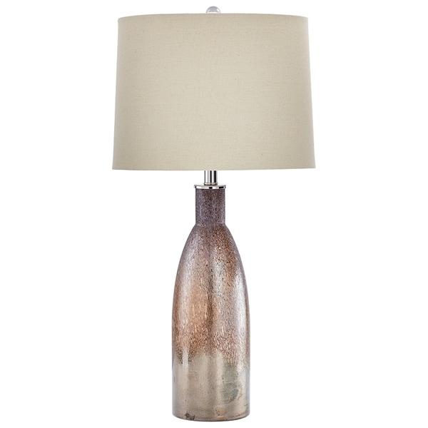 Bernardin Brown Linen Glass Table Lamp