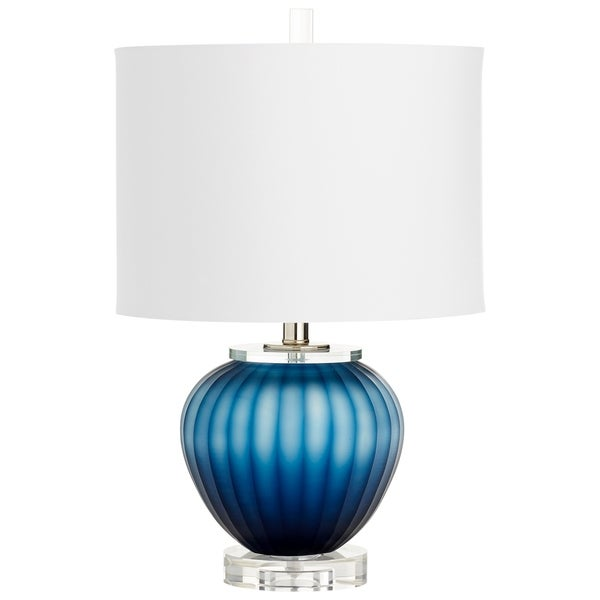 Cyan Design Halden Blue/White Glass/Cotton Table Lamp
