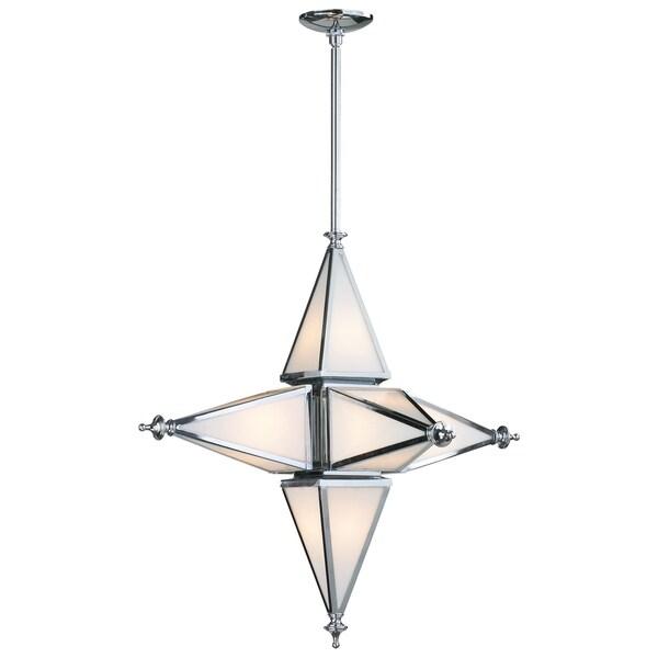 Small Six Light Star Pendant