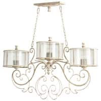 Florine Distressed Finish Iron 9-light Island