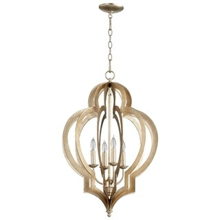 Vertigo Silver Leaf Iron Small Chandelier