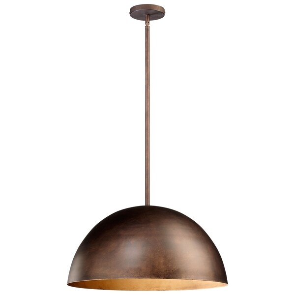 Large Carson Oiled-bronze Iron 1-light Pendant