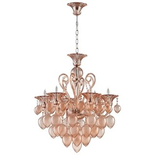 Small Bella Vetro 6-Light Chandelier