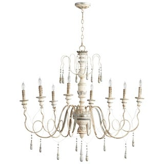 Chantal Blue Wrought Iron 8-light Chandelier
