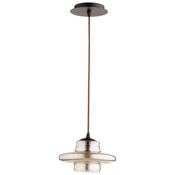 Cyan Design Celeste Oil-rubbed Bronze Iron/Glass 1-light Pendant