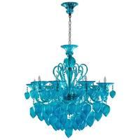 Bella Vetro Aqua Blue Glass Chandelier
