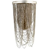 Ithica Aged Silver-leaf Iron Looped Chains 2-light Pendant