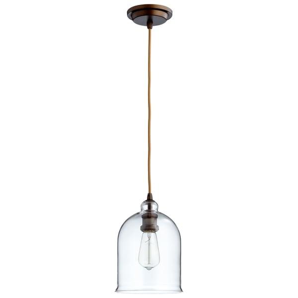Cyan Design Celia Oil-rubbed Bronze/Clear Glass Pendant Light