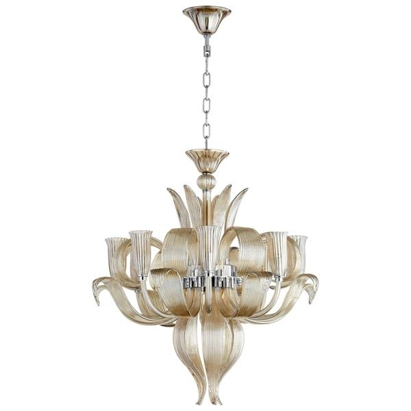 Juliana Chrome Metal and Glass 8-light Chandelier