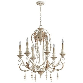 Cyan Design Lolina White Wrought Iron 6-light Chandelier
