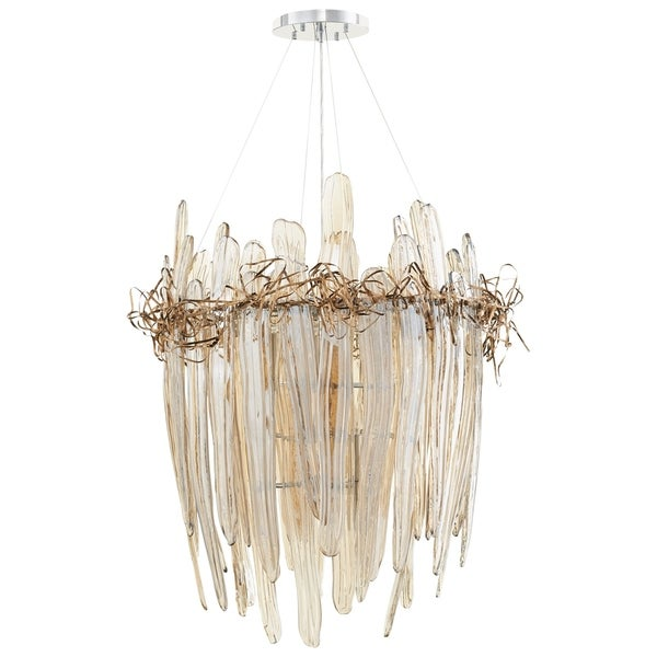 Cyan Design Thetis Copper/Glass Small 9-light Chandelier