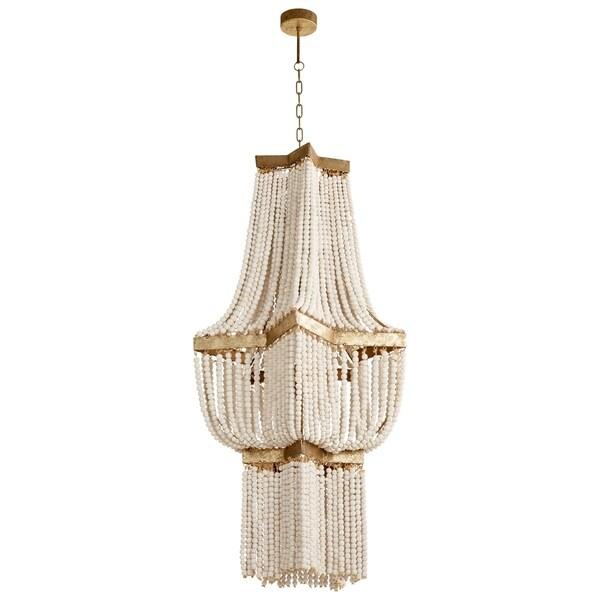 Large Estrella Wood/Iron 3-Light Pendant