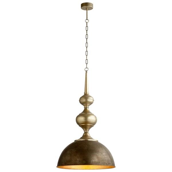Hleeb Bronze/Gold-tone Iron Pendant Light