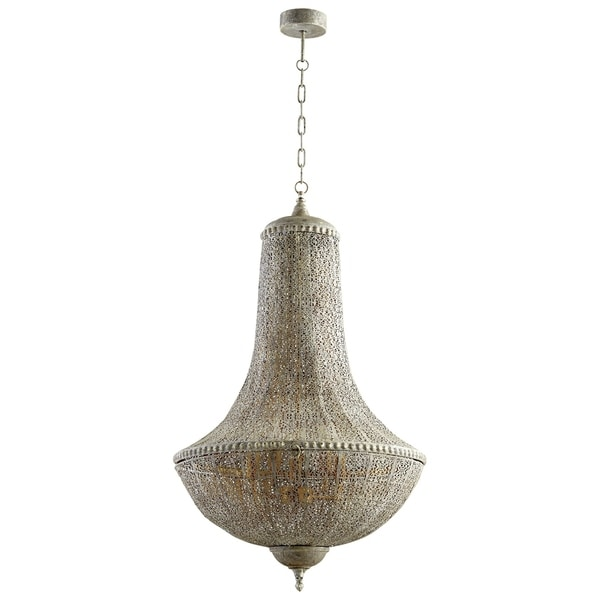 Dorija Antique Silver Finish Iron Pendant Light