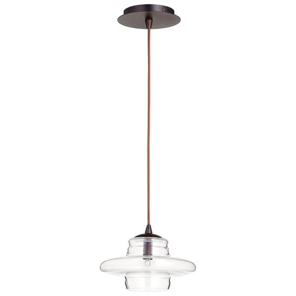 Cyan Design Celeste Oiled Bronze Iron Pendant Light With Glass Shade