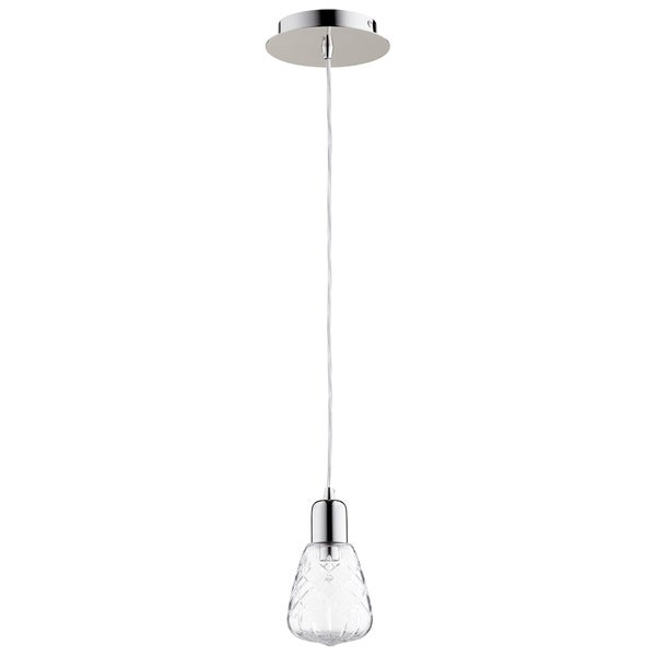 Cyan Design Sweetness and Light Clear Glass 1-light Pendant Fixture with Polished Nickel Finish