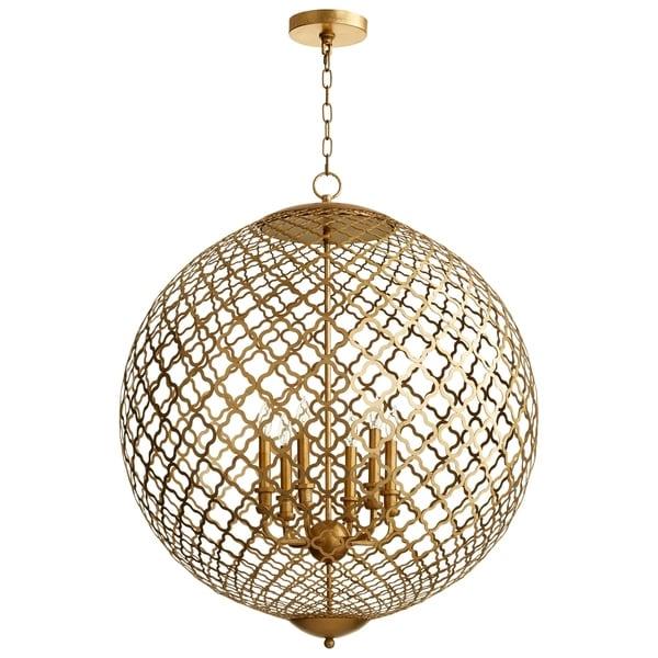 Cyan Design Skyros 6-light Gold Leaf Iron Pendant