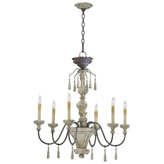 Carriage House Wrought Iron 6-light Chandelier