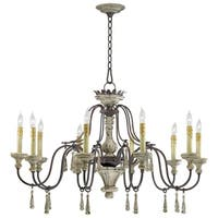 Ten Lamp Chandelier