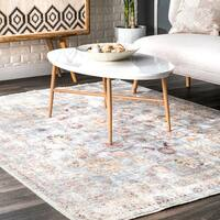 "nuLOOM Floral Dream Fringe Light Blue Area Rug (7'10 x 10'10) - 7'10"" x 10'10"""