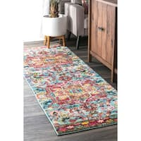 """The Curated Nomad Sutro Bohemian Tuscany Floral Runner Rug - 2'6"""" x 8' runner"""