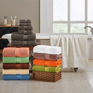 Superior Plush Absorbent 700 GSM Long Staple Combed Cotton 6-Piece Towel Set