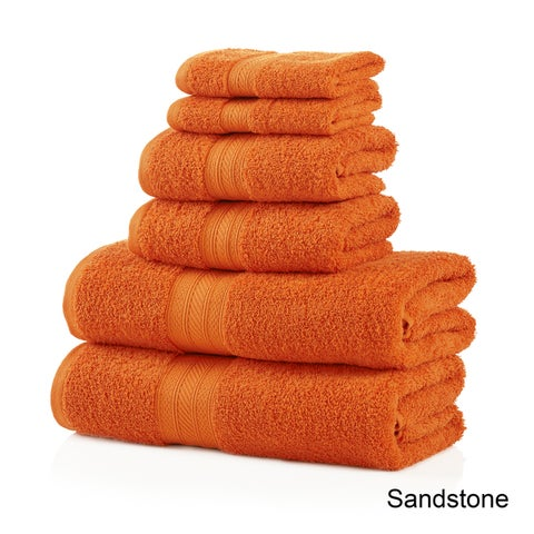 Superior Plush Absorbent 700 GSM Long Staple Combed Cotton 6-Piece Towel Set