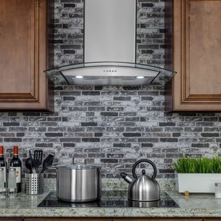 "AKDY RH0230 30"" Stainless Steel Wall Mount Range Hood Push Buttons LED Light Cooking Fan"