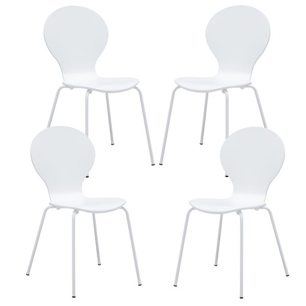Poly and Bark Petal Dining Chairs (Set of 4)