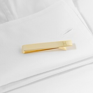 Personalized Gold Tie Clip
