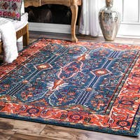 "nuLOOM Egyptian Multi Blue Area Rug (7'10 x 11') - 7'10"" x 11'"