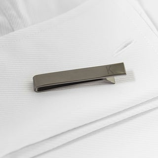 Personalized Gunmetal Tie Clip