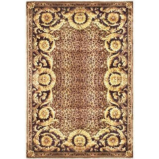 Safavieh Couture Hand-Knotted Florence Classic Burgundy / Multi Wool Rug - 3' x 5'