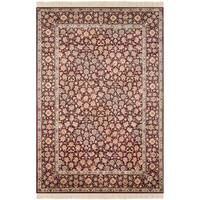 Safavieh Couture Hand-Knotted Royal Kerman Traditional Red / Red Wool Rug - 3' x 5'