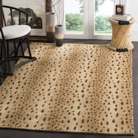 Safavieh Couture Hand-Knotted Tibetan Contemporary Beige Wool & Cotton Rug - 3' x 5'