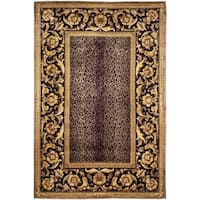 Safavieh Couture Hand-Knotted Florence Classic Gold / Burgundy Wool Rug - 4' x 6'
