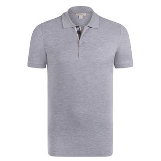 Men's Burberry Light Grey Polo Shirt
