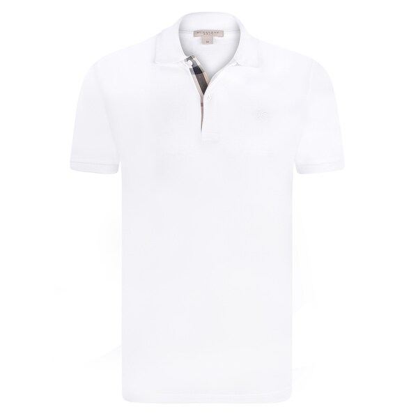 4e24345d Shop Men's Burberry White Polo Shirt - Free Shipping Today ...