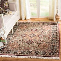 Safavieh Couture Hand-Knotted Royal Kerman Traditional Red / Multi Wool Rug - 4' x 6'