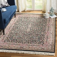 Safavieh Couture Hand-Knotted Royal Kerman Traditional Ivory / Mult Wool Rug - 4' x 6'