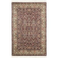 Safavieh Couture Hand-Knotted Royal Kerman Traditional Red / Ivory Wool Rug - 4' x 6'