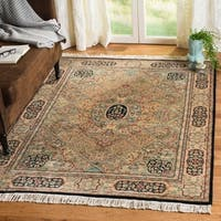 Safavieh Couture Hand-Knotted Royal Kerman Traditional Ivory / Multi Wool Rug - 5' x 7'