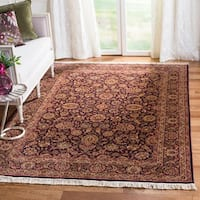 Safavieh Couture Hand-Knotted Royal Kerman Traditional Maroon / Ivory Wool Rug - 5' x 7'