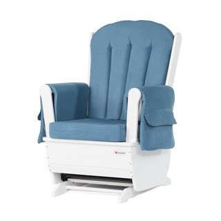 SafeRocker Standard Glider Rocker, White/Blue